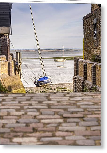 Cobble Coble Greeting Card by Carolyn Lewis