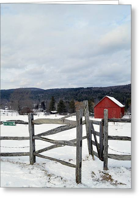 Cobble Mountain Barn No. 1 Greeting Card by Geoffrey Coelho