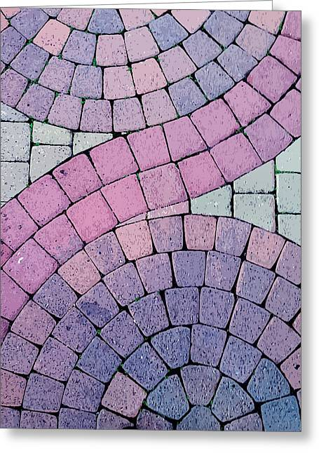 Cobblestone Abstract Greeting Card by Art Block Collections