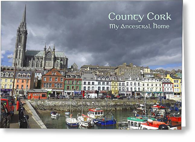 Cobh County Cork Greeting Card by Your Irish Heritage