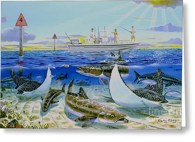 Cobia Run In004 Greeting Card by Carey Chen