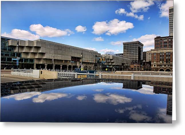 Cobo Hall Detroit Michigan Greeting Card by Gordon Dean II
