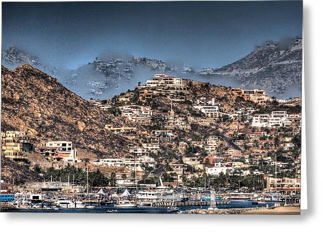 Cobo San Lucas-abstract Hdr Greeting Card