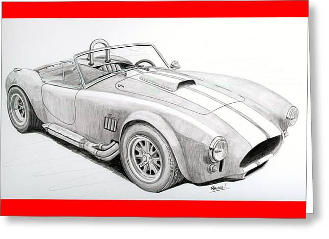 Ac Ford Cobra With 427  Greeting Card