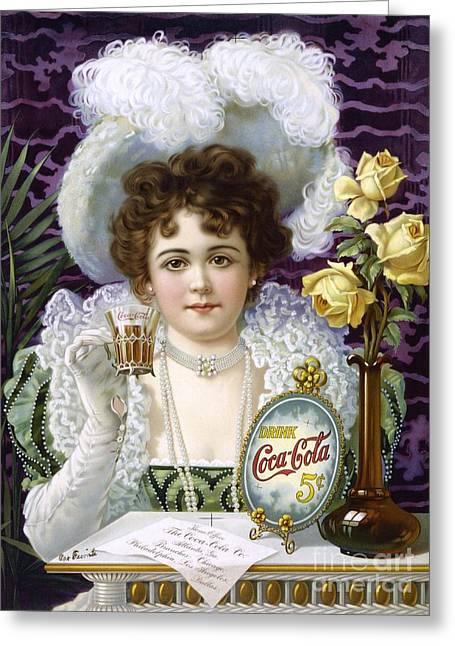 Coca-cola Advert, 1890s Greeting Card