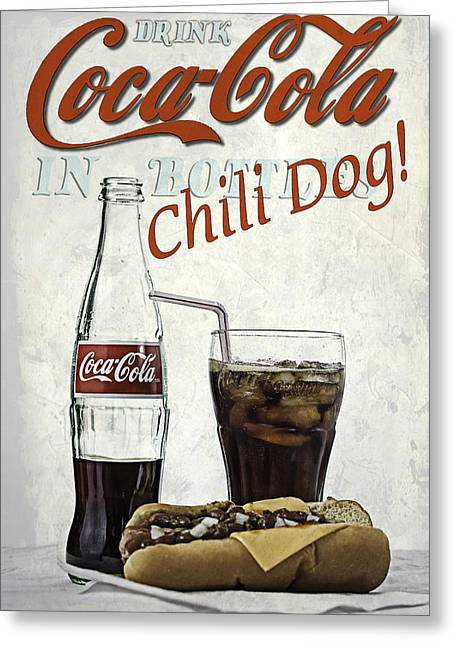 Coca-cola And Chili Dog Greeting Card
