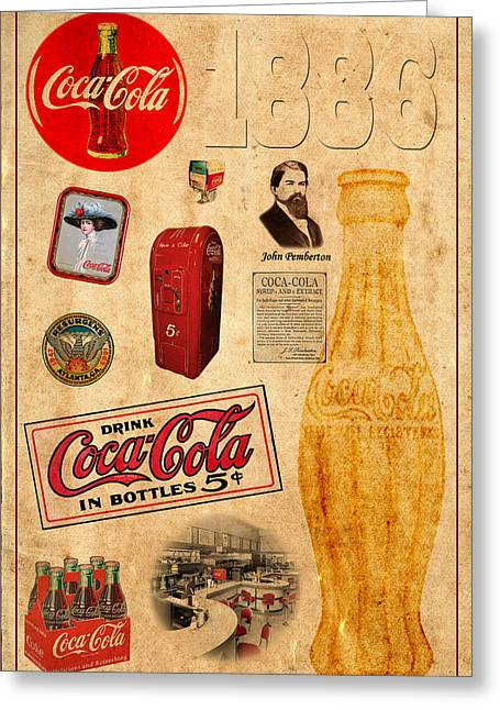 Coca Cola Greeting Card by Andrew Fare