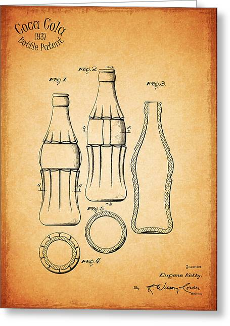 Coca Cola Bottle 1937 Greeting Card