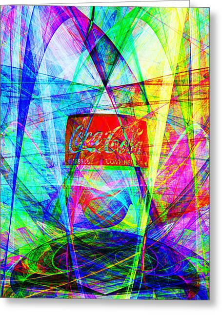 Coca Cola Bottle 20130621di Long Greeting Card by Wingsdomain Art and Photography