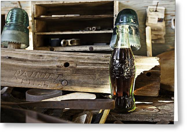Coca-cola In The Light Of Day 4 Greeting Card