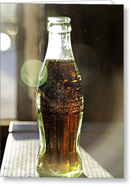 Greeting Card featuring the photograph Coca-cola In The Light Of Day by James Sage