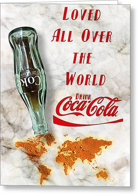 Coca Cola Loved All Over The World 2 Greeting Card