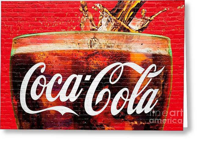 Coca Cola Greeting Card by Luciano Mortula