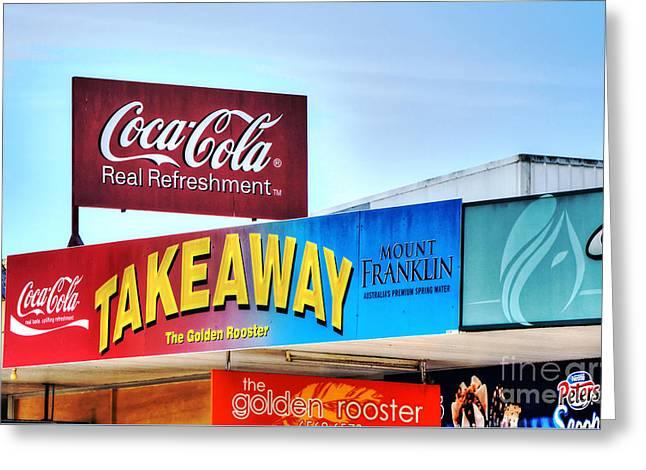 Coca-cola - Old Shop Signage Greeting Card