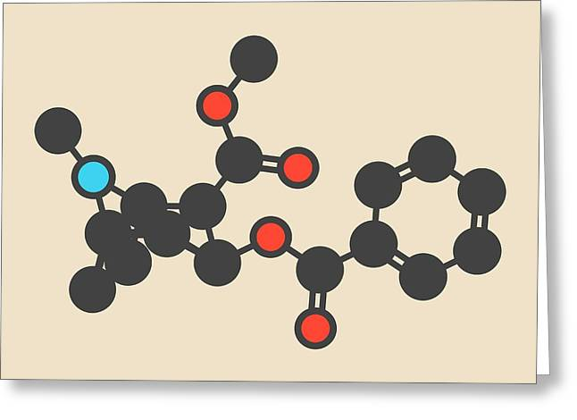 Cocaine Stimulant Drug Molecule Greeting Card by Molekuul