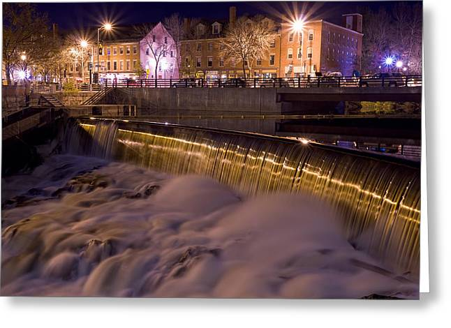 Cocheco River Falls Dover Nh Greeting Card