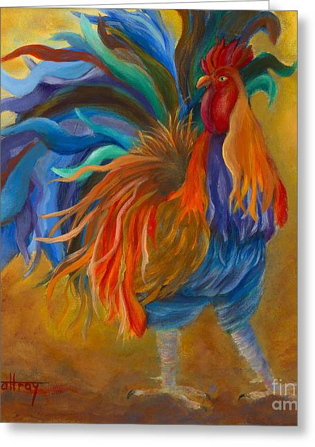 Cock-of-the-walk Greeting Card by Lynn Rattray