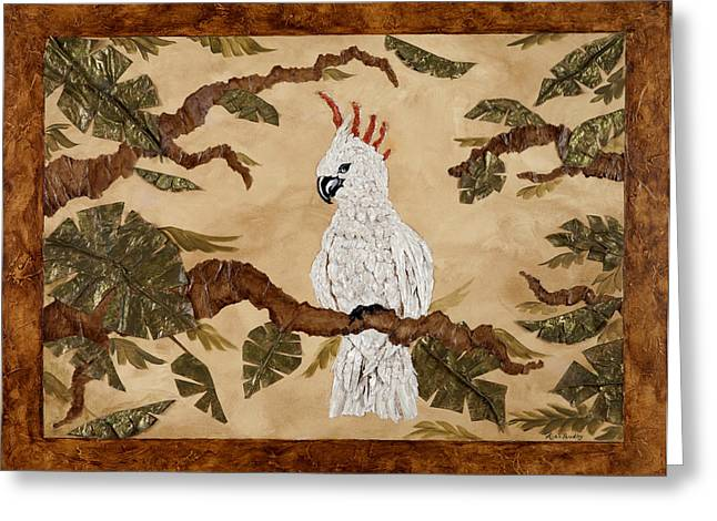 Cockatoo Out On A Limb Greeting Card by Nickie Bradley