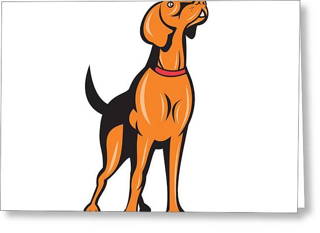 Cocker Spaniel Golden Retriever Dog Cartoon Greeting Card by Aloysius Patrimonio