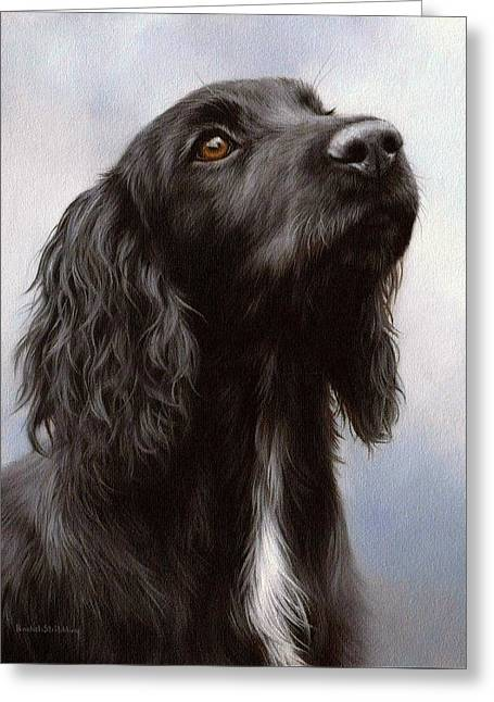 Cocker Spaniel Painting Greeting Card by Rachel Stribbling