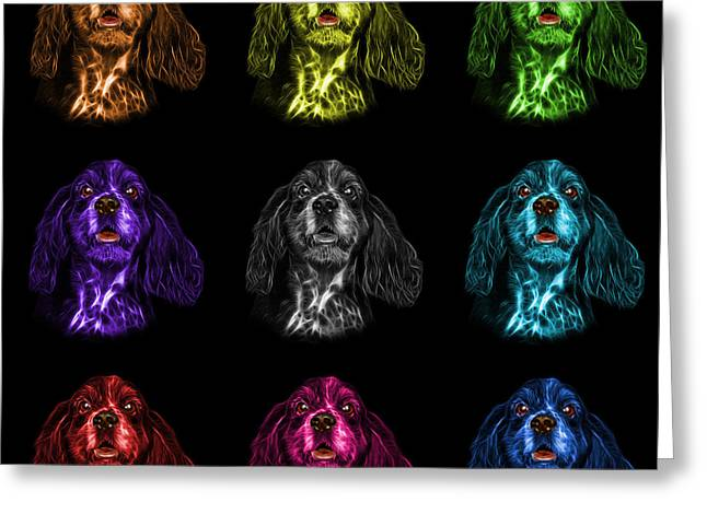 Cocker Spaniel Pop Art - 8249 - Bb - M Greeting Card