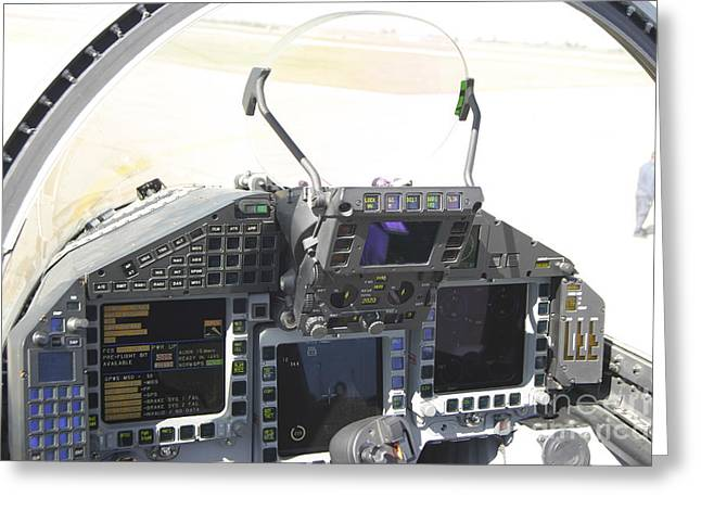 Cockpit View Of A Eurofighter Typhoon Greeting Card by Timm Ziegenthaler