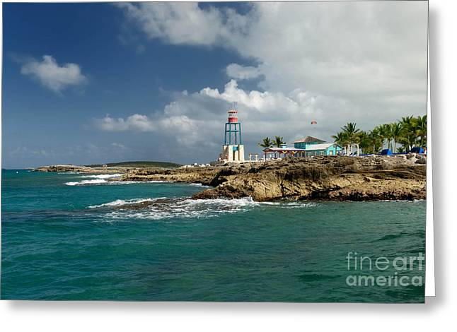 Coco Cay Bahamas Greeting Card by Amy Cicconi