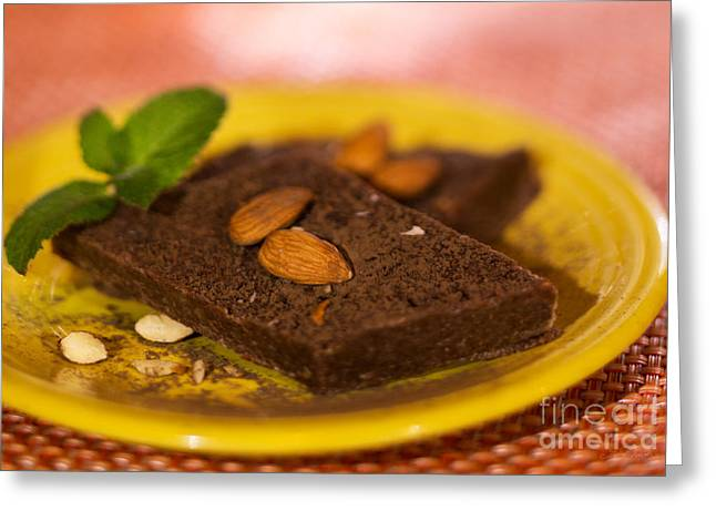 Coconut Almond Squares Greeting Card