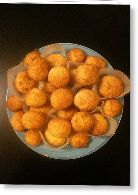 Coconut Biscuits Greeting Card by Arual Jay