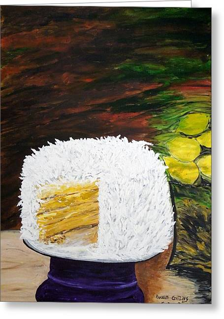 Coconut Cake Greeting Card