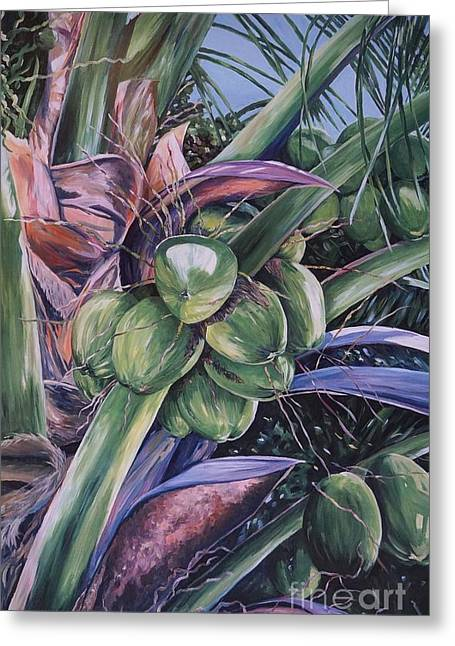 Coconuts   14x26 Greeting Card