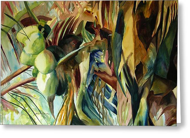 Coconuts And Palm Fronds 5-16-11 Julianne Felton Greeting Card