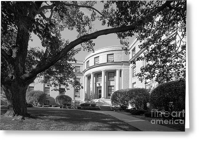 Coe College Greene Hall Greeting Card by University Icons