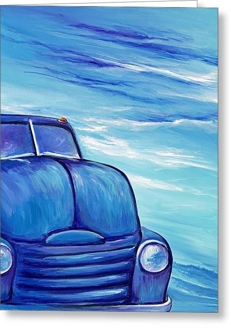 Coe Tow Truck Greeting Card by David Junod