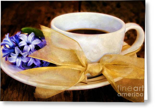 Coffee 4 One Greeting Card by Darren Fisher