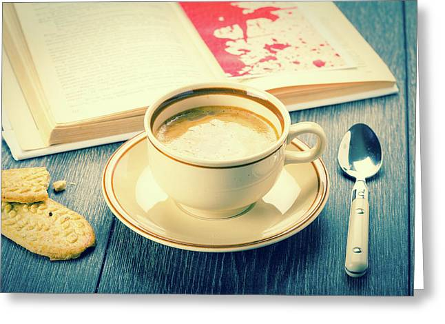 Coffee And Biscuits Greeting Card