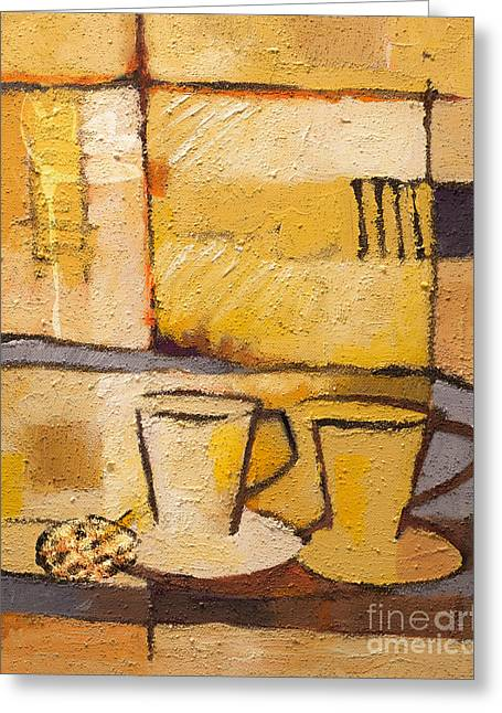 Coffee And Bisquit Greeting Card by Lutz Baar
