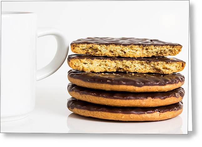 Coffee And Cookies. Greeting Card by Gary Gillette