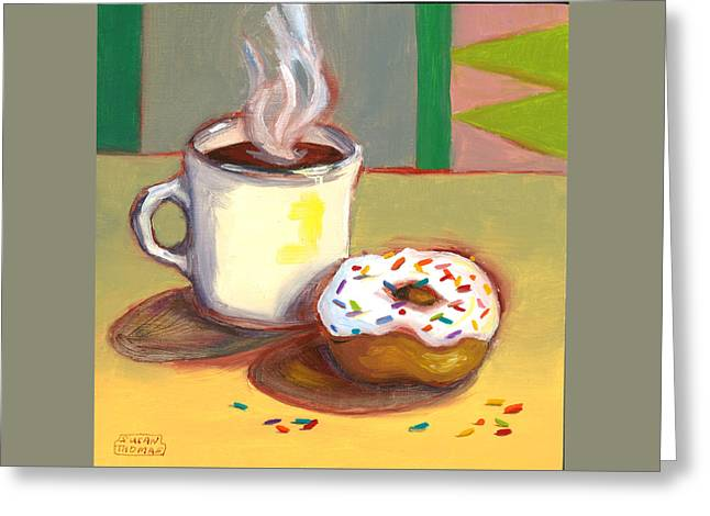 Coffee And Donut Greeting Card