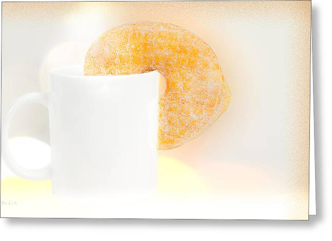 Coffee And Donuts Two Greeting Card by Bob Orsillo