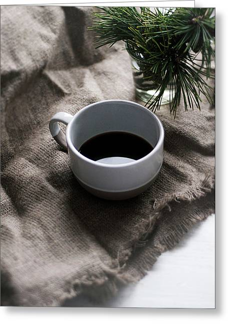 Coffee And Pine Greeting Card