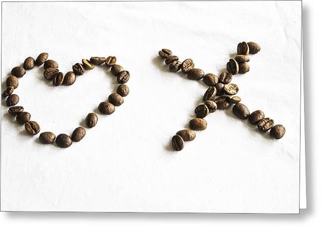 Coffee Bean Love Greeting Card