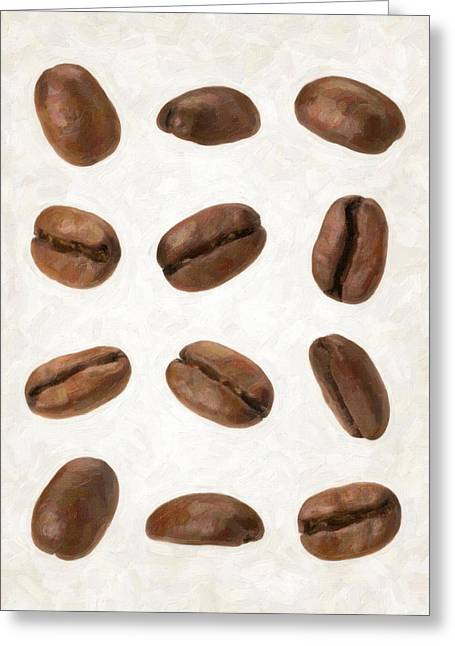 Coffee Beans Greeting Card by Danny Smythe
