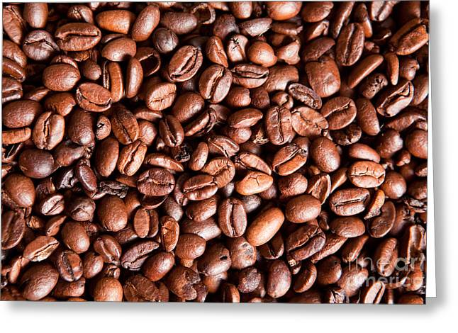 Coffee Beans  Greeting Card by Sharon Dominick
