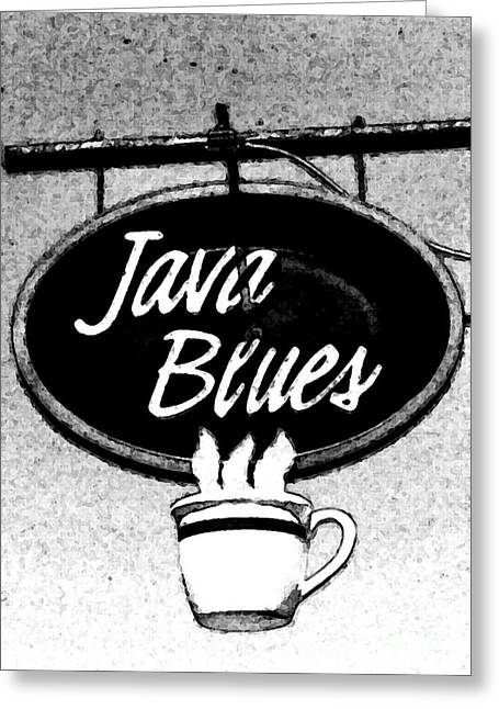 Coffee Blues  Greeting Card by Juls Adams