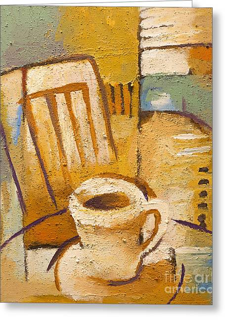 Coffee Corner Greeting Card by Lutz Baar