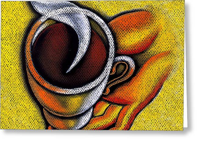 Coffee Cup  Greeting Card by Leon Zernitsky