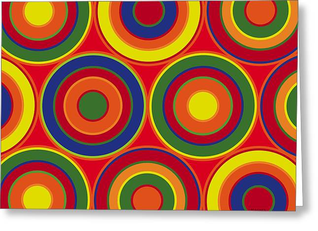 Circles Greeting Card by Ron Magnes