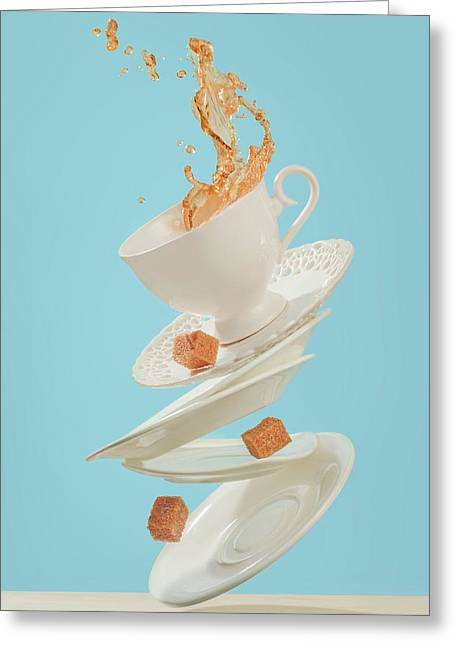 Coffee For A Stage Magician Greeting Card
