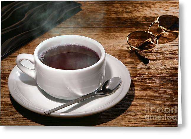 Coffee For The Voyageur Greeting Card by Olivier Le Queinec